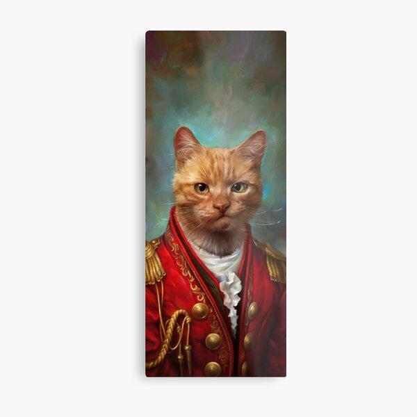 Court General Wise Cat  Metal Print