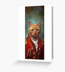 Tarjeta de felicitación Corte General Wise Cat