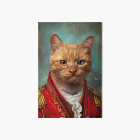 Court General Wise Cat  Art Board Print