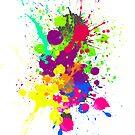 COLORBURST Spatter Print  by Ldarro