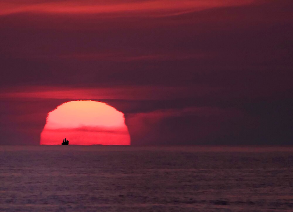 July sunrise over the Atlantic by Dorothy DuMond Cohen