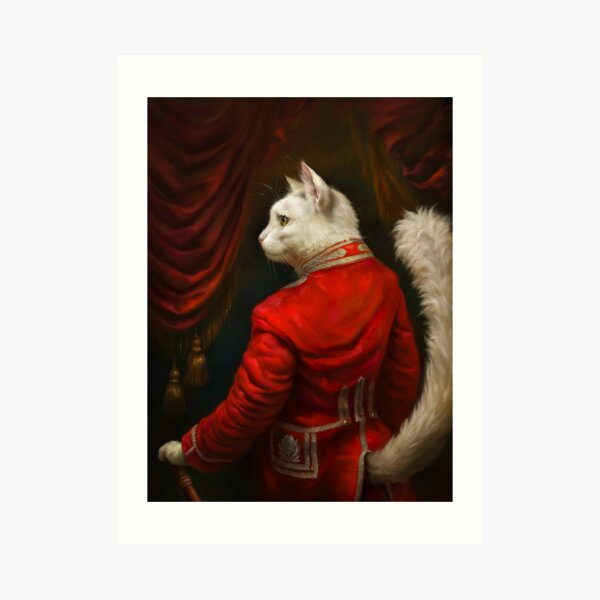The Hermitage Court Chamber Herald Cat Edited version Art Print