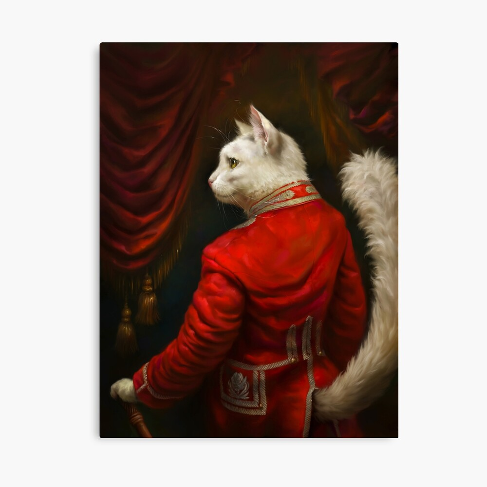 The Hermitage Court Chamber Herald Cat Edited version Canvas Print