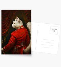 Postales La versión del Hermitage Court Chamber Herald Cat Edited