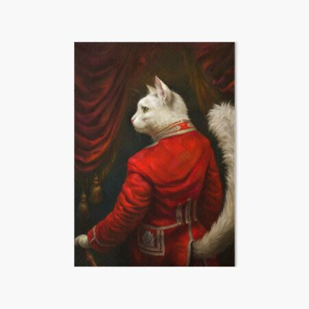 The Hermitage Court Chamber Herald Cat Edited version Art Board Print