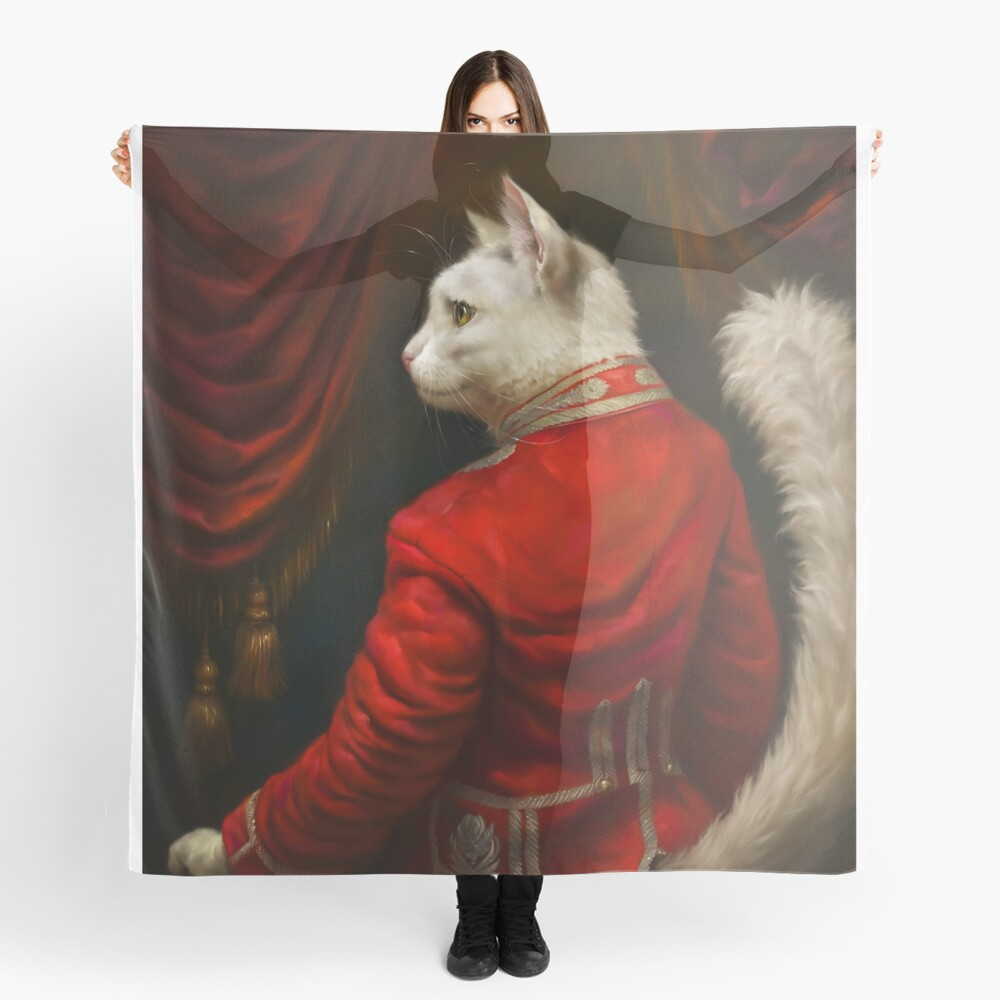 The Hermitage Court Chamber Herald Cat Edited version Scarf