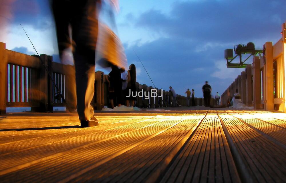 Boardwalk at night by JudyBJ