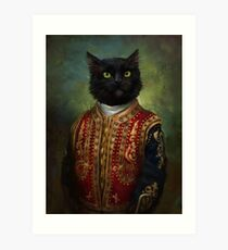 Hermitage Court Moor in casual uniform  Art Print