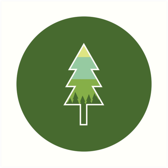 Pacific Northwest Tree Outline By Jpforrest