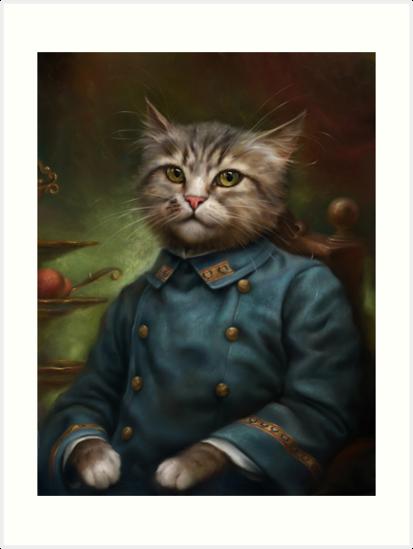 The Hermitage Court Confectioner Apprentice Cat  by Ldarro