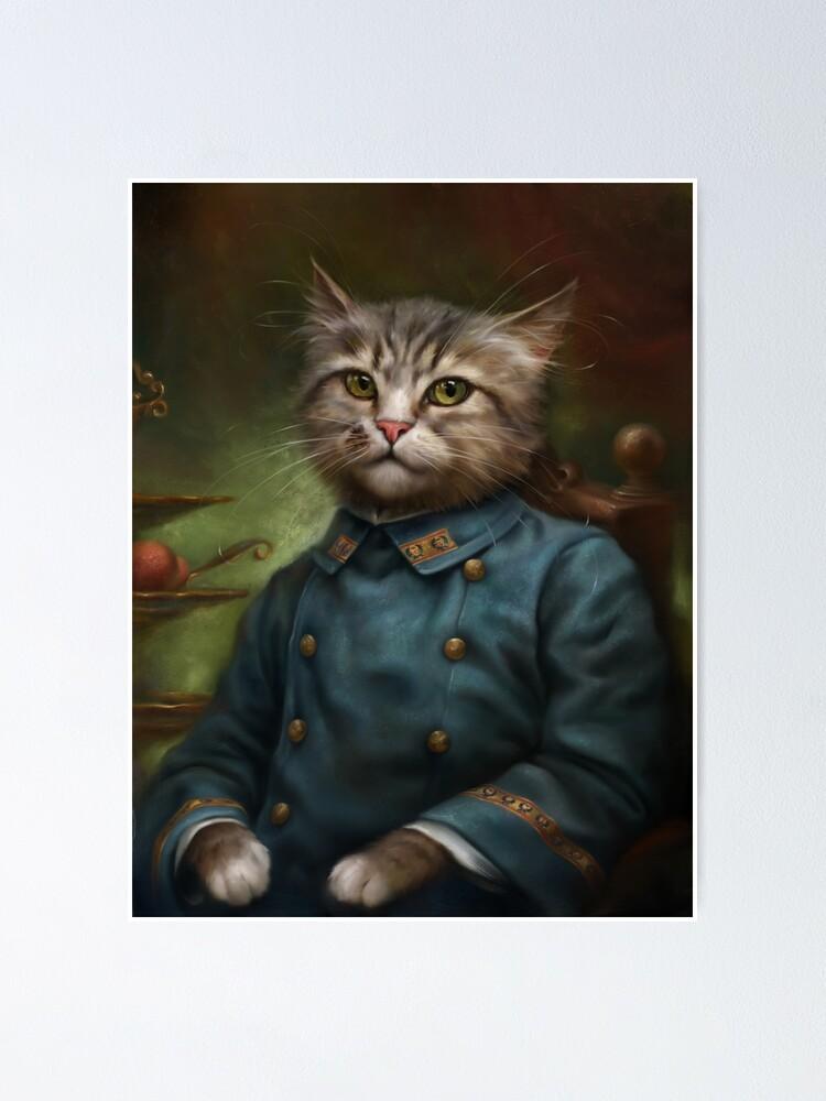 Alternative Ansicht von Der Hermitage Court Konditor Lehrling Cat Poster