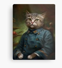 The Hermitage Court Confectioner Apprentice Cat  Metal Print