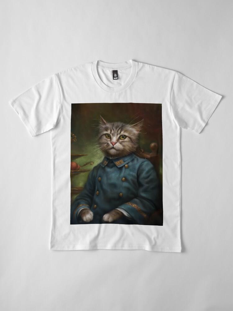 Vista alternativa de Camiseta premium The Hermitage Court Confectioner Apprentice Cat