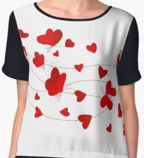 Hearts and Butterflies Chiffon Top