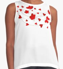Hearts and Butterflies Contrast Tank