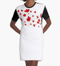 Hearts and Butterflies Graphic T-Shirt Dress