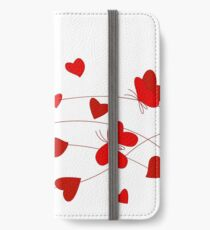 Hearts and Butterflies iPhone Wallet/Case/Skin
