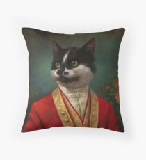 The Hermitage Court Waiter Cat Throw Pillow