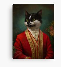 The Hermitage Court Waiter Cat Canvas Print