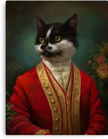 The Hermitage Court Waiter Cat by Ldarro