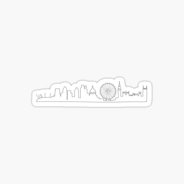 London Grey Skyline Sticker