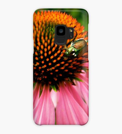 Pink flower with a visitor Case/Skin for Samsung Galaxy