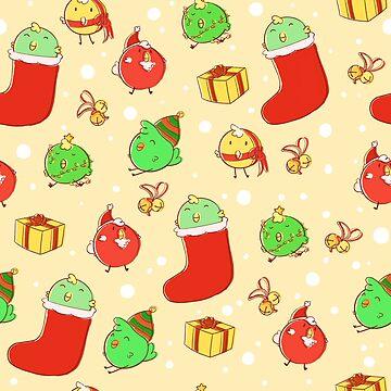 Christmas Birds by tthumbelina