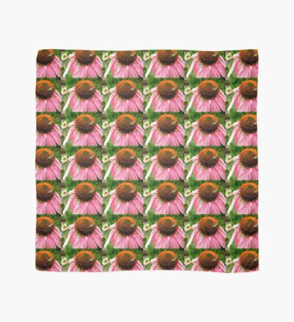 Pink flower with a visitor Scarf