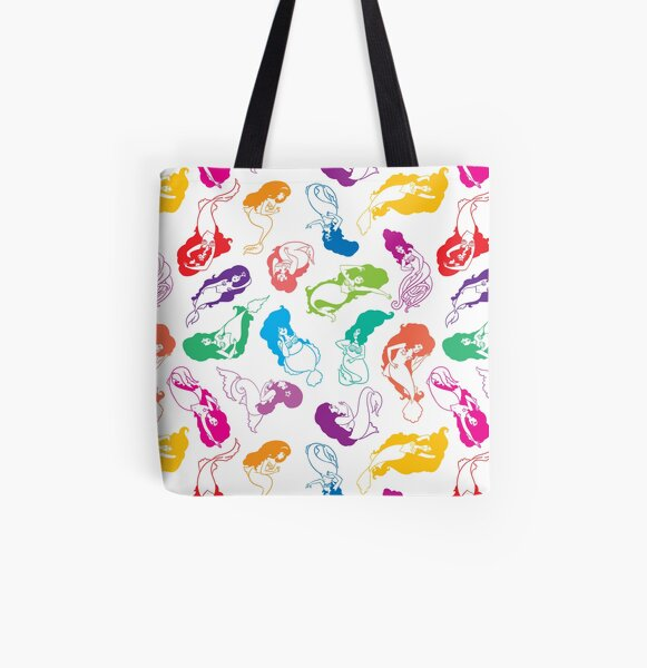 Mermaid Babes (Rainbow) All Over Print Tote Bag