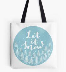 Let it snow blue Tote Bag