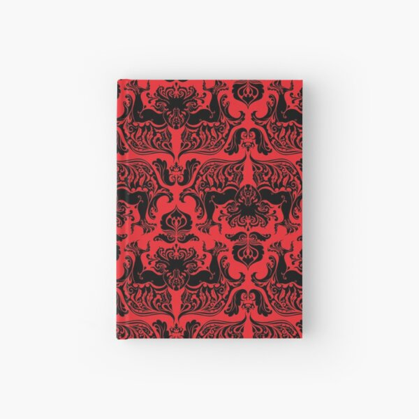 I Love Craft (Cthulhu Damask Red and Black) Hardcover Journal