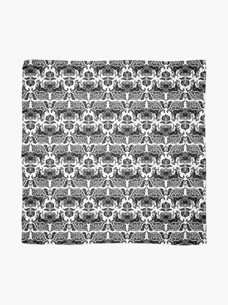 Alternative Ansicht von Ich liebe Handwerk (Cthulhu Damask Black and White) Tuch