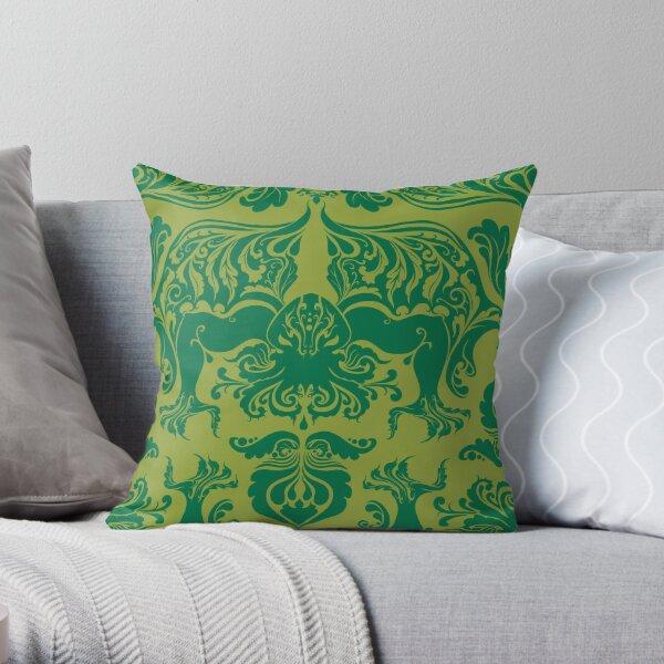 I Love Craft (Cthulhu Damask) Throw Pillow