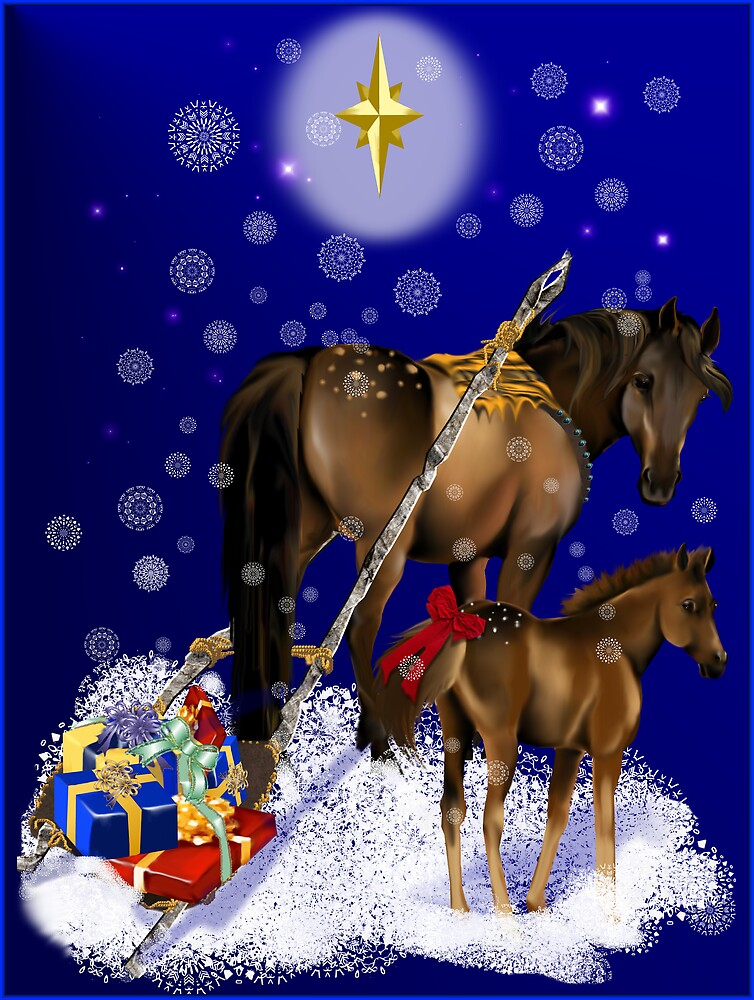 Christmas Mare and Colt by Lotacats