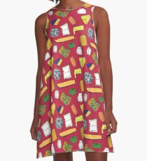 Cheese Obsession A-Line Dress