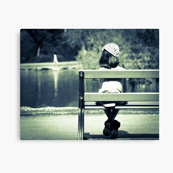 Girl on a Bench Canvas Print