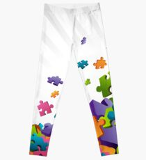 Light Puzzle Pieces Leggings