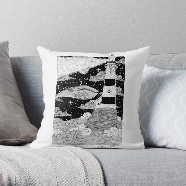 The Lighthouse- Inktober2017 Throw Pillow