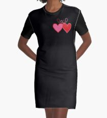 Cross-linked Hearts Graphic T-Shirt Dress