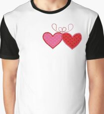 Cross-linked Hearts Graphic T-Shirt