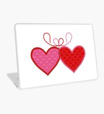 Cross-linked Hearts Laptop Skin