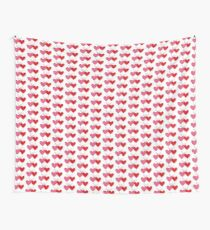 Cross-linked Hearts Wall Tapestry