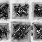 Jigsaw Frottage 14. by Andrew Nawroski
