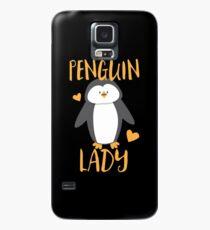 Pinguin-Dame Hülle & Klebefolie für Samsung Galaxy