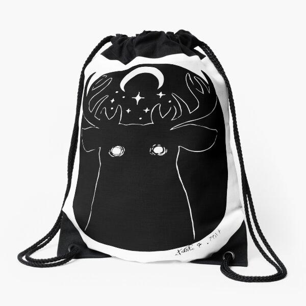 The Moon God- Inktober2017 Drawstring Bag