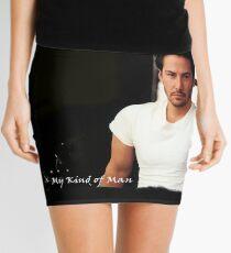 My Kind Of Man (Keanu Reeves Portrait) Mini Skirt