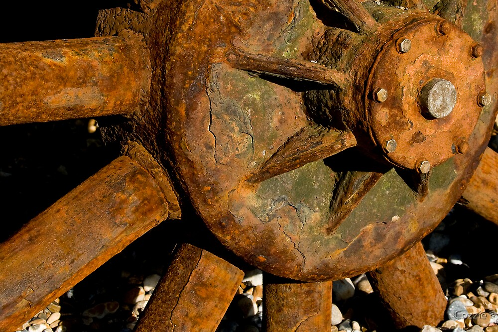 Rusty Old Wheel by Pete Costick