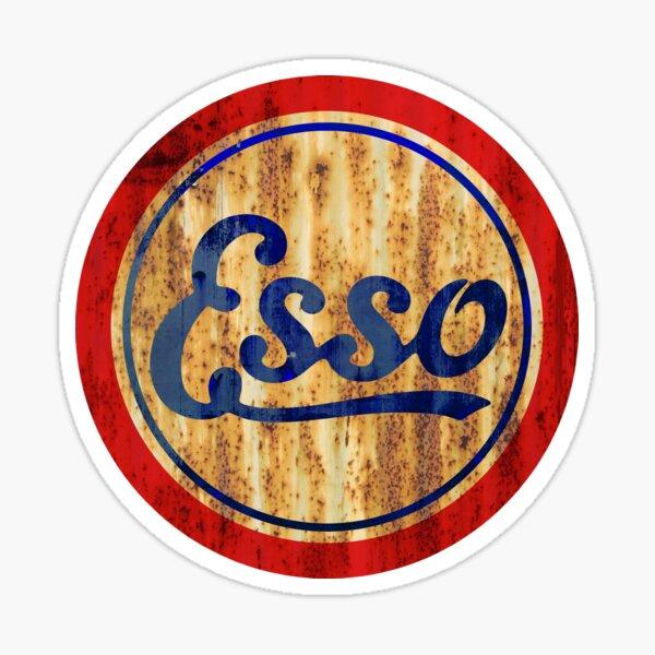 Vintage signe Esso rouillé comme diable Sticker