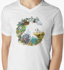 Camiseta para hombre de cuello en v Tribute Color (con leyenda)