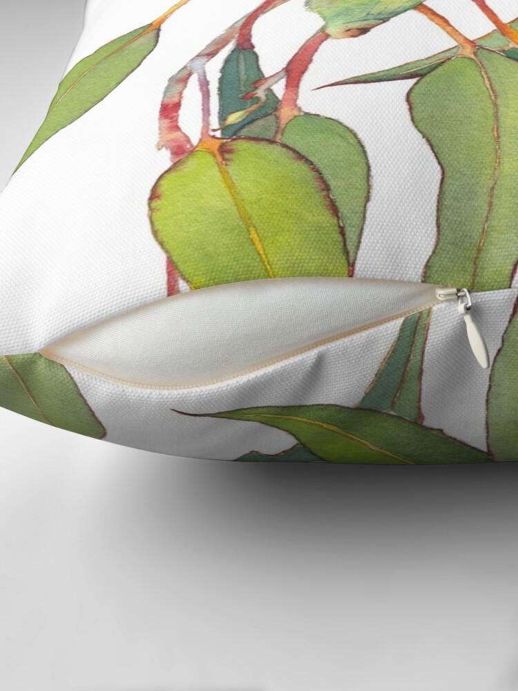 Alternate view of Australian native eucalyptus tree branch Throw Pillow